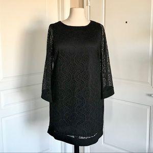 Emma & Michelle black lace net dress